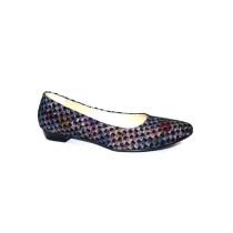 Vycházková obuv-baleríny, De-Plus, šíře G, F-369 černá+kytky