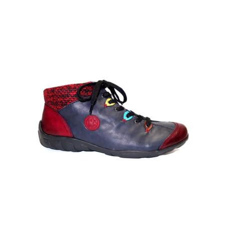 Zimní vycházková obuv-kotníková, Rieker, kombi