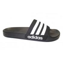 Plážová obuv, Adidas, Adilette Shower, černo-bílá