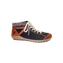 Zimní vycházková obuv-kotníková, Rieker, černo-hnědá