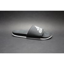 Letní obuv pro volný čas-pantofle, Adidas, Adilette Comfort, černo-bílá
