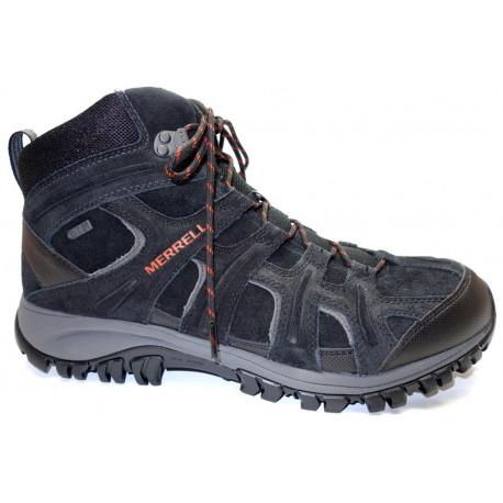 Zimní turistická obuv pro lehký terén, Merrell, Phoenix 2 Mid Thermo WP, černo-šedá
