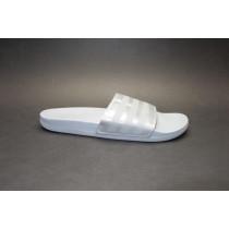 Letní obuv pro volný čas-pantofle, Adidas, Adilette Comfort, šedo-stříbrná