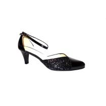 Letní vycházková obuv, De-Plus, šíře G, černá/F-350