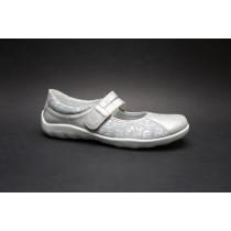 Vycházková obuv-baleríny, Remonte, šedo-stříbrná
