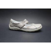 Vycházková obuv-baleríny, Remonte, platinová