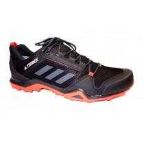 Turistická obuv pro středně náročný terén, Adidas, Terrex AX3 GTX, černo-červená