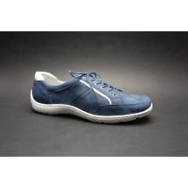 Vycházková obuv-flexiblová, Waldläufer, šíře H, modro-stříbrná