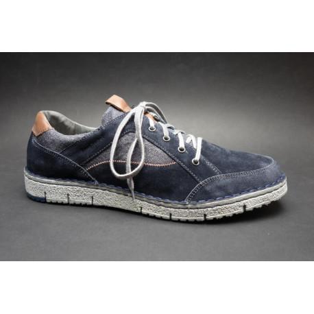 Vycházková obuv-flexiblová, Josef Seibel, Ruben 23, tmavě modro-hnědá