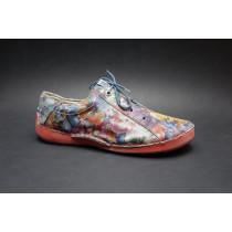 Vycházková obuv-flexiblová, Josef Seibel, Fergey 75, šedá+kytky