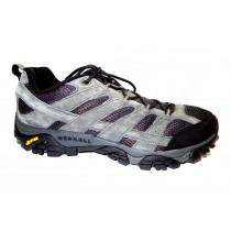Turistická obuv pro středně náročný terén, Merrell, Moab 2 Vent, tmavě šedo-černá