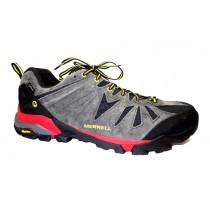 Turistická obuv pro středně náročný terén, Merrell, Capra Gore-Tex, tmavě šedo-černá