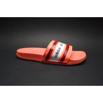 Letní obuv pro volný čas-pantofle, Adidas, Adilette Comfort, oranžovo-bílá