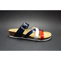 Letní vycházkové pantofle, Ara, Bali-Hs, červeno-bílo-modrá