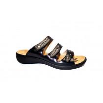 Letní vycházková obuv-pantofle, Romika, Ibiza 66, černá