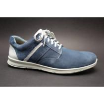 Vycházková obuv, Comfortabel, šíře H, modro-bílá