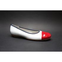 Vycházková obuv-baleríny, Gabor, bílo-modro-červená