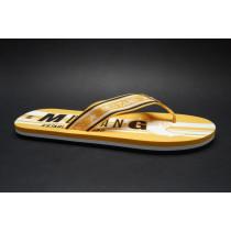 Plážová obuv-žabky, Mustang, žlutá