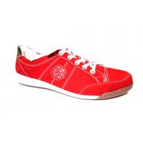 Vycházková obuv, Ara, Rom, šíře G, červeno-stříbrná