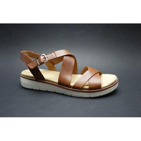 Letní vycházková obuv, Remonte, světle hnědá