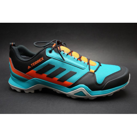 Turistická obuv pro středně náročný terén, Adidas, Terrex AX3 GTX, aqua/černá/oranžová