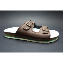 Letní vycházkové pantofle, Sázavan, tmavě hnědá