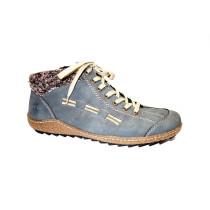 Zimní vycházková obuv-kotníková, Rieker, šedomodrá