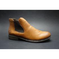 Zimní vycházková obuv-kotníková, Rieker, světle hnědá