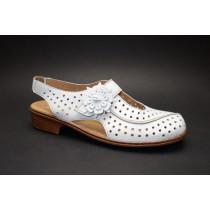 Letní vycházková obuv-flexiblová, Ara, Rhodos-Ang, šíře H, bílá