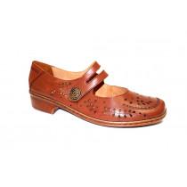 Letní vycházková obuv-flexiblová, Ara, Rhodos-Ang, šíře H, hnědá