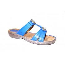 Letní vycházkové pantofle-flexiblové, Ara, Korsika, šíře G, modrá