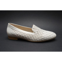 Letní vycházková obuv-mokasíny, Gabor, šíře G, elfenbein