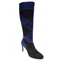 Zimní vycházková obuv-kozačky, Brenda Zaro, černo-tmavě modrá