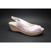 Letní vycházková obuv, Brenda Zaro, růžovo-stříbrná