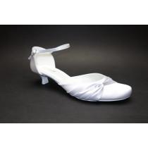 Letní vycházková obuv, De-Plus, šíře G, bílá