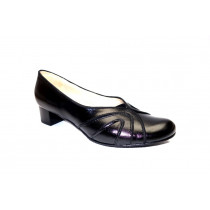 Vycházková obuv-lodičky, De-Plus, šíře G 1/2, černá