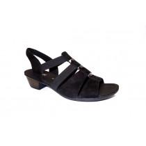 Letní vycházková obuv, Gabor, šíře G, černá