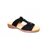 Letní vycházkové pantofle, Gabor, šíře H, černá
