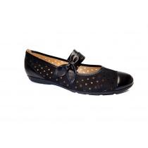 Letní vycházková obuv-baleríny, Gabor, černá