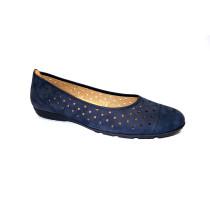 Letní vycházková obuv-baleríny, Gabor, tmavě modrá