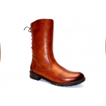 Zimní vycházková obuv-polokozačky, Remonte, přírodní