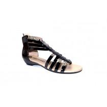 Letní vycházková obuv, Softwaves, černá