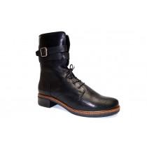 Zimní vycházková obuv-polokozačky, Softwaves, černá