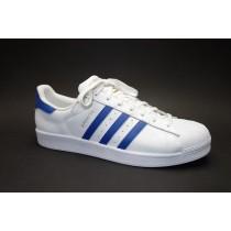 Obuv pro volný čas, Adidas, Superstar Foundation, bílo-modrá