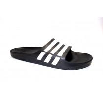 Plážová obuv, Adidas, Duramo Slide, černo-bílá