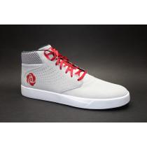 Basketbalová obuv, Adidas, D Rose Lakeshore Mid, světle šedo-červeno-stříbrná
