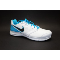 Běžecká obuv, Nike, Downshifter 6 Lea, bílo-modro-černá