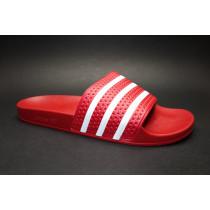 Plážová obuv, Adidas, Adilette, červeno-bílá