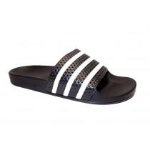 Plážová obuv, Adidas, Adilette, černo-bílá