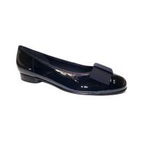 Vycházková obuv-baleríny, Gabor, tmavě modrý lak